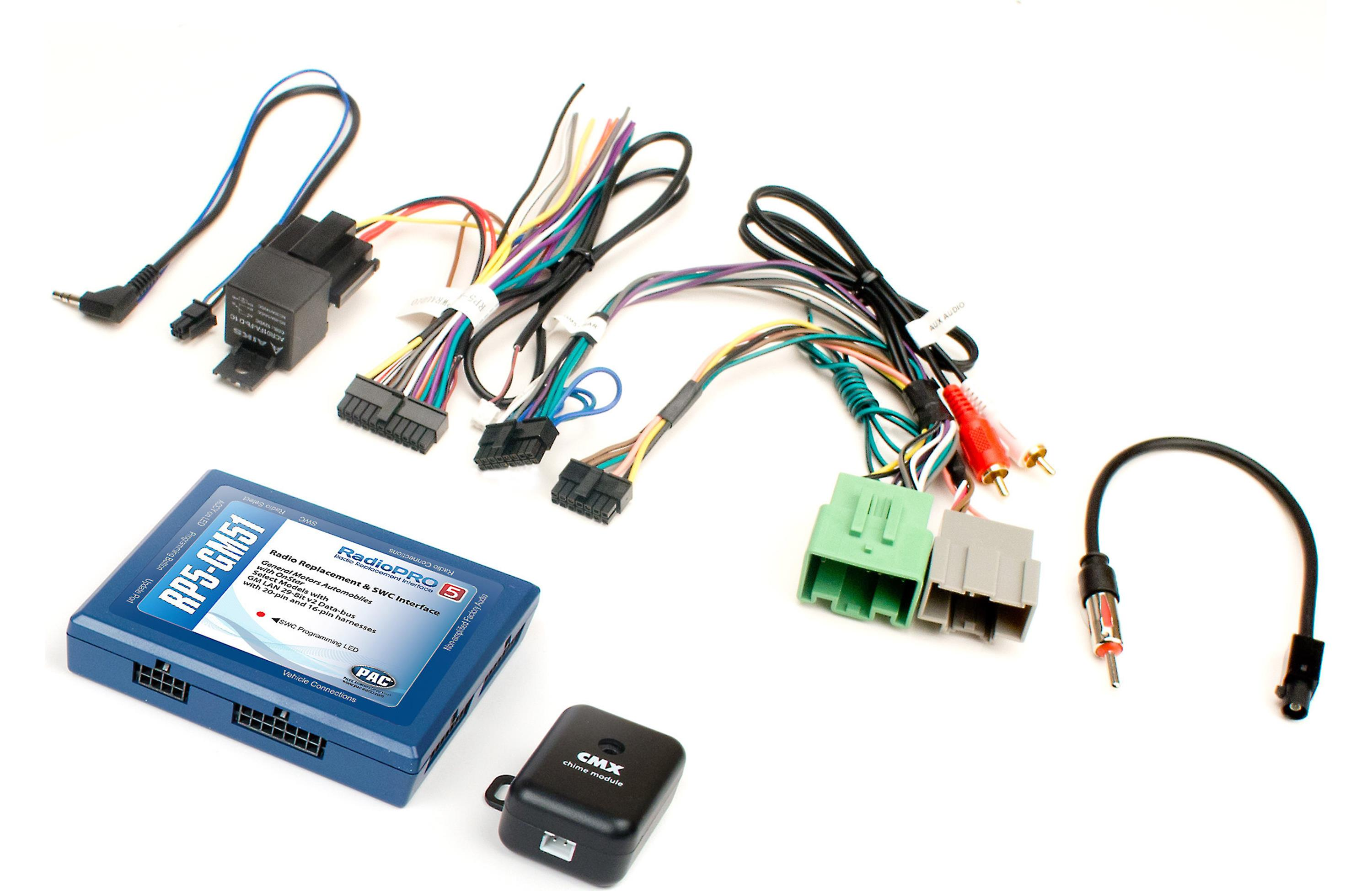 pac radiopro5 rp5-gm51 - car audio giants pac 80 isolator wiring diagram pac radio pro wiring diagram