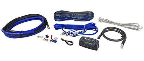 Kicker 4 Gauge Amp Kit (CK4) Complete 4 AWG OFC CK-Series 2-Channel on