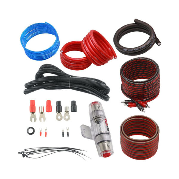DS18 AMPKIT8, 8 Gauge CCA Amplifier Wiring Kit with RCA Cables