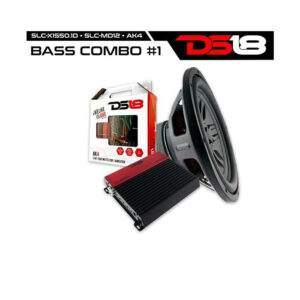 "DS18 BASSCOMBO1, Bass Combo 1 Slc md12 Select 12"" Subwoofer Slc X1550.1 Monoblock Amplifier"