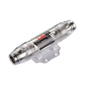DS18 FHRANL250A, 0 Gauge/4 Gauge Round ANL Weatherproof Fuse Holder with 200A Fuse