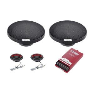 "DS18 EXL-SQ6.5C, 6-1/2"" 2-Way Exl Series 4-ohm, 400 Watt Component Speakers"