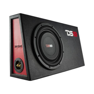 """DS18 SW10S4X, 10"""" Shallow Mount Subwoofer 4 Ohm 1000 Watts Svc In Sealed Mdf Enclosure Loaded"""