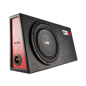 "12"" Shallow Mount Subwoofer 4 Ohm 1200 Watts Svc In Sealed Mdf Enclosure, Loaded"