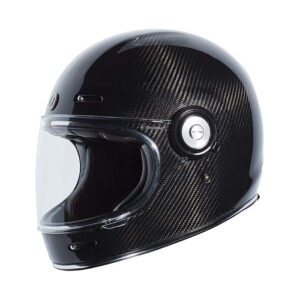 TORC T-1 Retro Full Face Helmet - Gloss Carbon Fiber