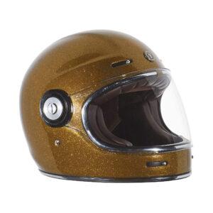 TORC T-1 Retro Full Face Helmet - Gold Metallic