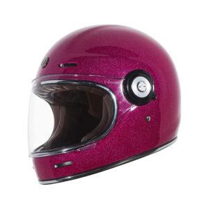 TORC T-1 Retro Full Face Helmet - Bubblegum Pink Megaflake