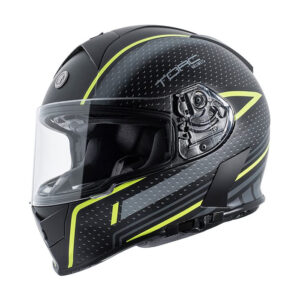 TORC T-14 Full Face Helmet - Scramble Hi-viz Green