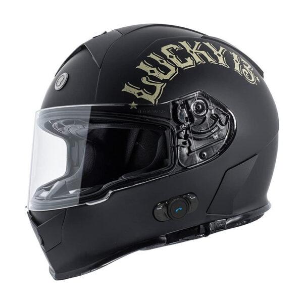 TORC T-14 Full Face Helmet W/Blinc Bluetooth - Bullhead