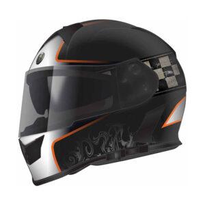 TORC T-14 Full Face Helmet W/blinc Bluetooth - Champion Orange