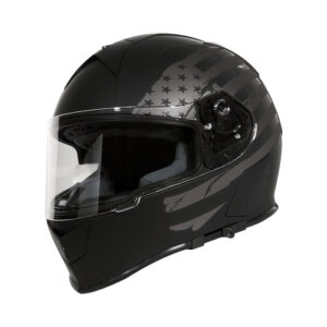 TORC T-14 Full Face Helmet W/blinc Bluetooth - Black Flag