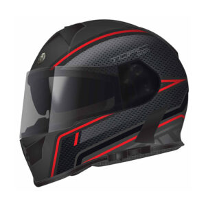 TORC T-14 Full Face Helmet W/blinc Bluetooth - Scramble Red