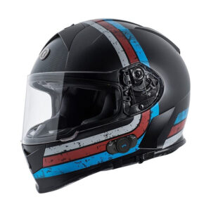 TORC T-14 Full Face Helmet W/blinc Bluetooth - Stryker White