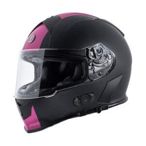 TORC T-14 Full Face Helmet W/blinc Bluetooth - Ss Pink