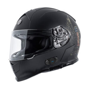 TORC T-14 Full Face Helmet W/blinc Bluetooth - Wings