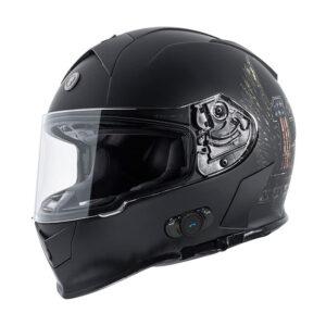TORC T-14 Full Face Helmet W/blinc Bluetooth - Wings