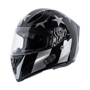 TORC T-15 Full Face Helmet W/blinc Bluetooth - Captain Shadow Gloss