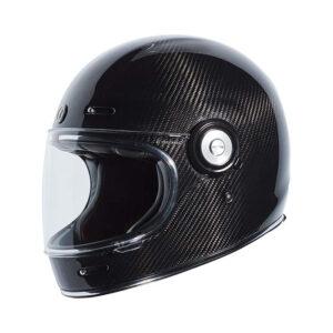 TORC T-1 Retro Full Face Helmet - Flat Carbon Fiber