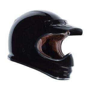 TORC T-3 Retro Mx Full Face Helmet - Gloss Black