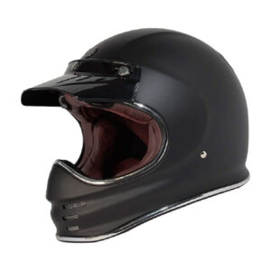 TORC T-3 Retro Mx Full Face Helmet - Flat Black
