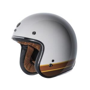"""TORC Dot 3/4 Helmet """"Iso Bars"""" - White"""