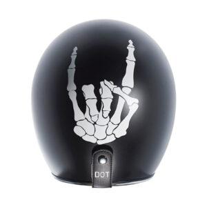 TORC T50 Dot 3/4 Helmet - Bones