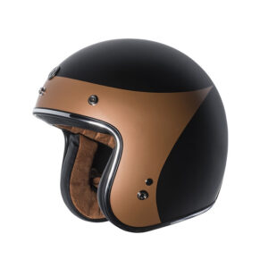 "TORC Dot 3/4 Helmet ""Copper Crow"" - Flat Black"