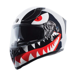 TORC T-15 Full Face Helmet - Chrome Flying Tiger