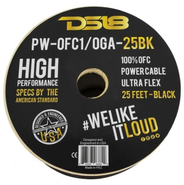 DS18 PW-OFC1/0GA-25BK